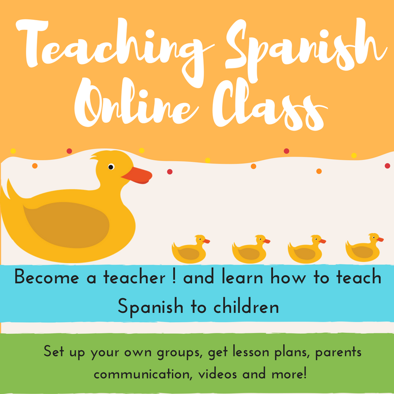 Teach spanish to children for teachers