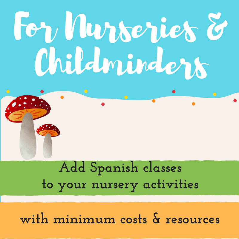 Teach spanish to children for nurseries
