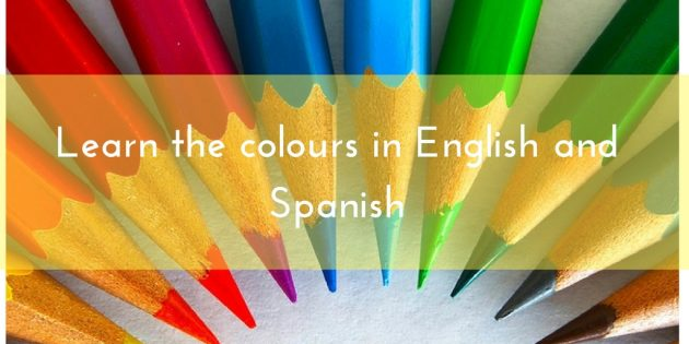 learn the colours in English and Spanish