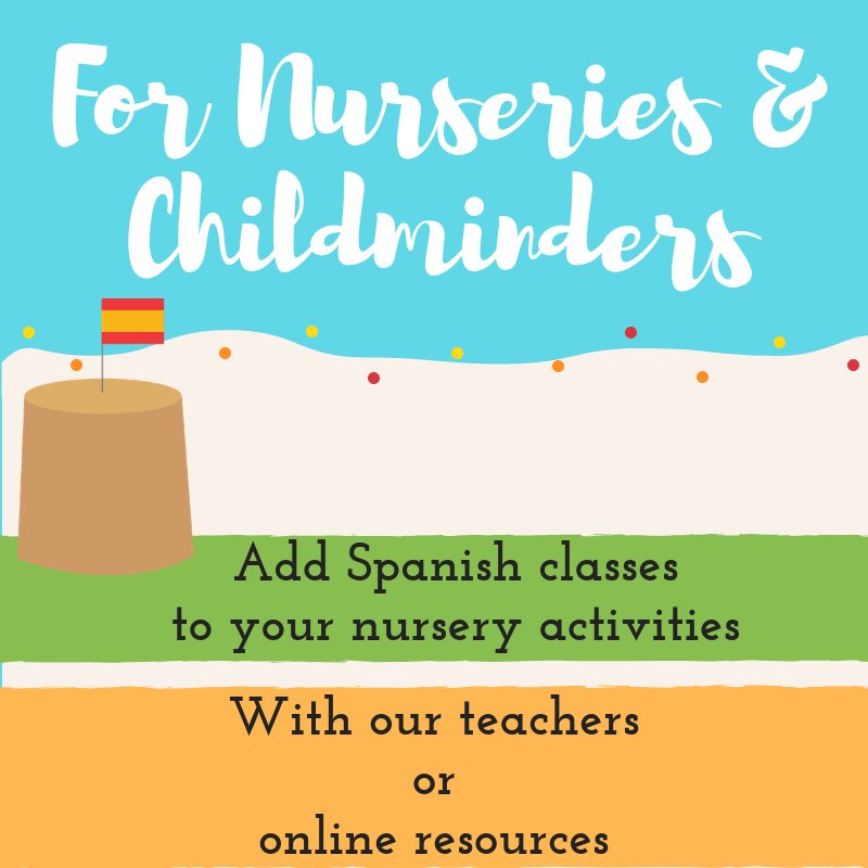 Teach spanish to children for nurseries